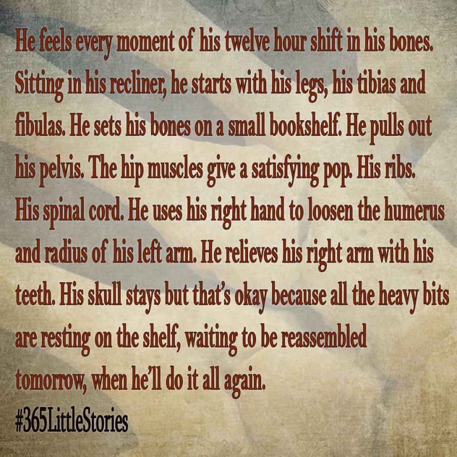 September 25, 2017; A Man Rests His Bones