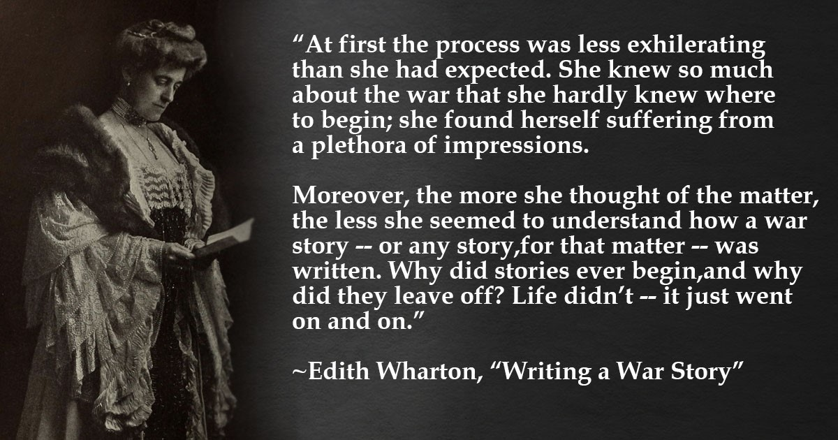 Edith Wharton Quote War Story 1